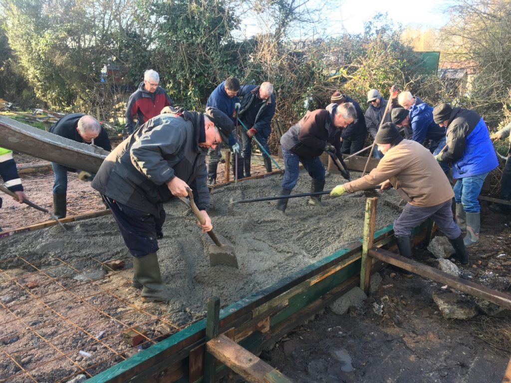 Up river yacht club launch and recovery syndicate crack on with the next tractor shed base